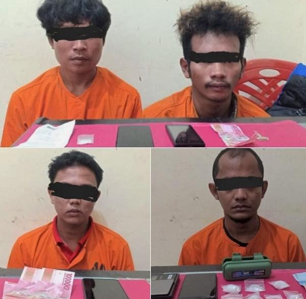 Resnarkoba Palalawan Gulung 3 Pengedar dan 1 Bandar Sabu