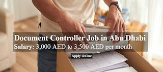 Document Controller Job Vacancy in A Construction Company Abu Dhabi, UAE Location