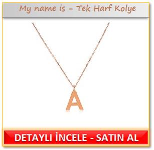 My name is - Tek Harf Kolye