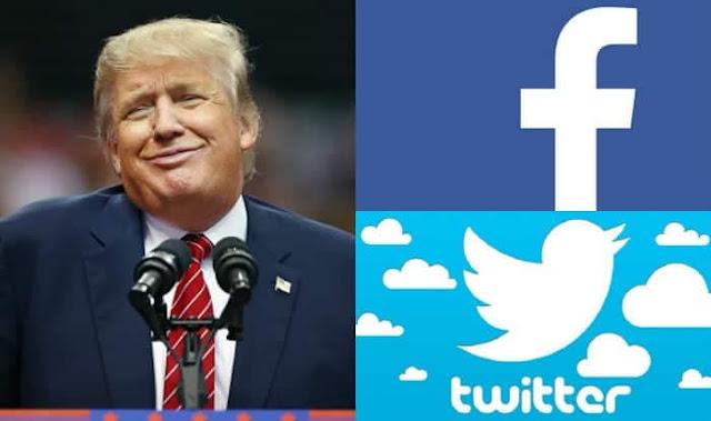 ترامب للصحفيين : سأغلق موقع Twitter و Facebook بالقانون