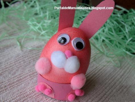Conejo rosado de pascua  Portal de Manualidades