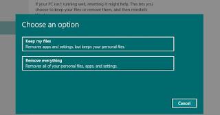 Mengatur Ulang Laptop, PC, atau Tablet
