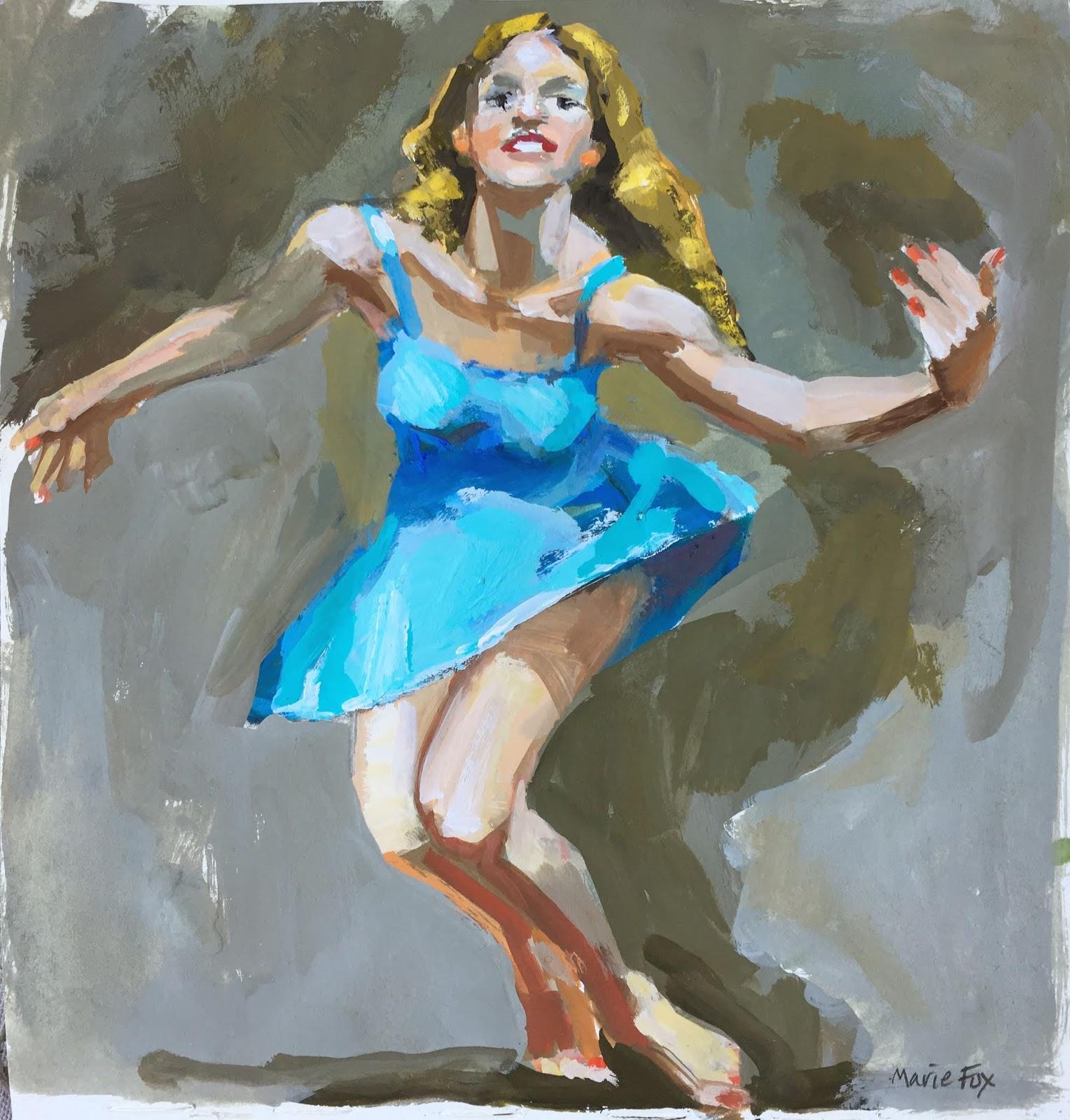 Dance Woman Dancer Contemporary Figurative Art Dancing