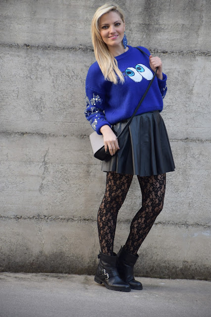 blue wool sweater how to wear blue wool sweater mariafelicia magno fashion blogger colorblcok by felym fashion bloggers italy web influencer italiane italian web influencer february outfits winter outfits