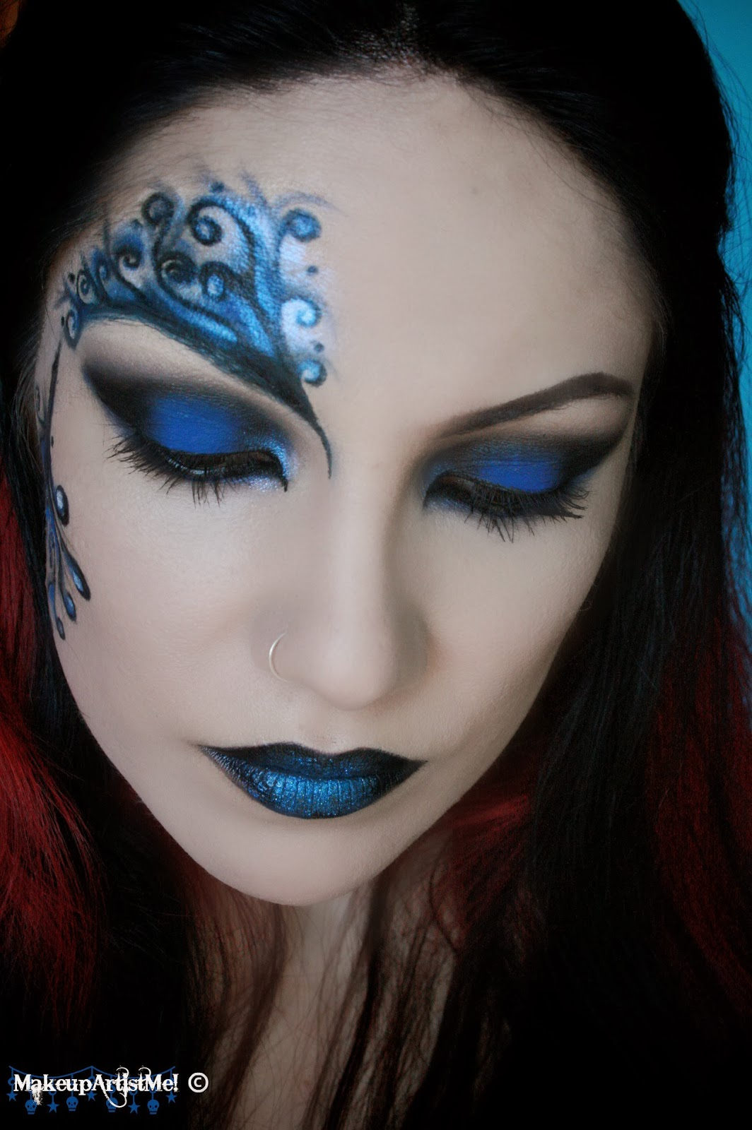 Make Up Lesson For Beginners: Make-up Artist Me!: Blue Secret- Blue Masquerade Makeup