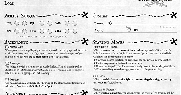 Dungeon World: A Pirate's Life For You! - Points of Light