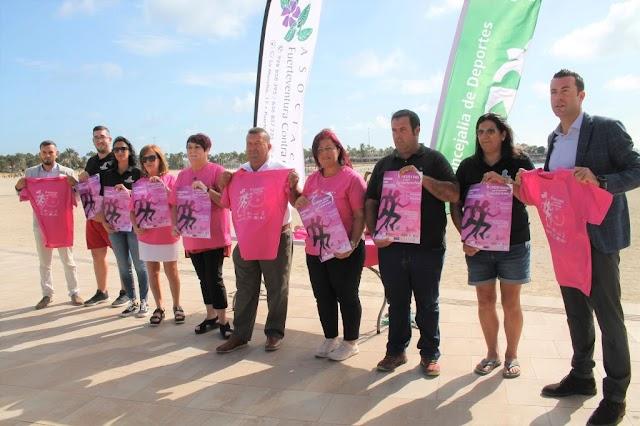 En Fuerteventura  participantes en la Carrera Contra el Cáncer formarán un lazo gigante y solidario en la Playa del Castillo