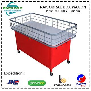 rak obral box wagon promosi