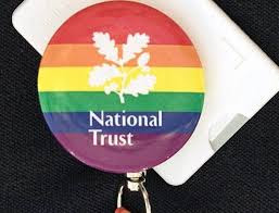 National Trust rainbow badge
