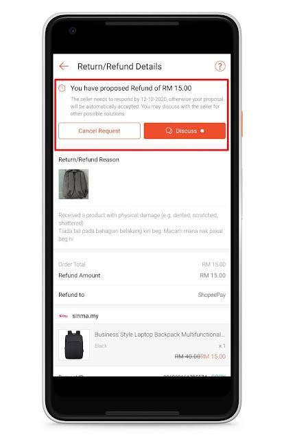cara return dan refund barang shopee tahun 2020