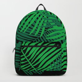 Modern Tropical Palm Leaves Backpack