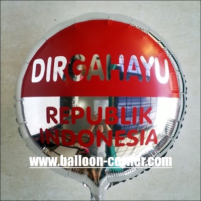 "Balon Foil Bulat ""DIRGAHAYU REPUBLIK INDONESIA"""