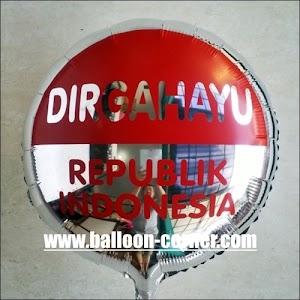 "Balon Foil Bulat ""DIRGAHAYU REPUBLIK INDONESIA"""