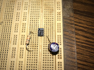 Resistor installed