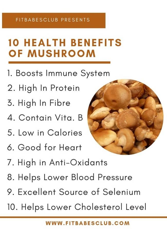 10 Health Benefits of Mushroom