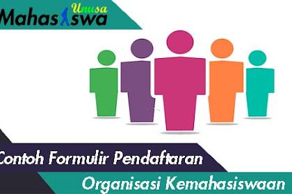 Contoh Formulir Pendaftaran Himpunan Mahasiswa