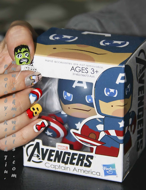 a photo of Avengers Nail Art Tutorial