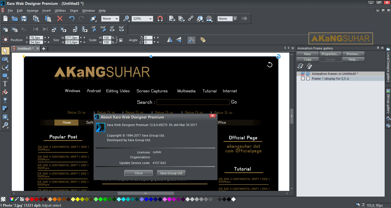 Download Xara Web Designer Premium Full Keygen