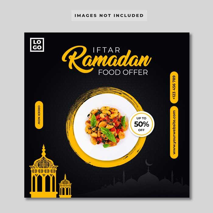Iftar Ramadan Food Banner