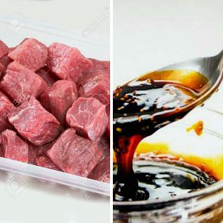 Carne con Salsa Teriyaki a la Naranja