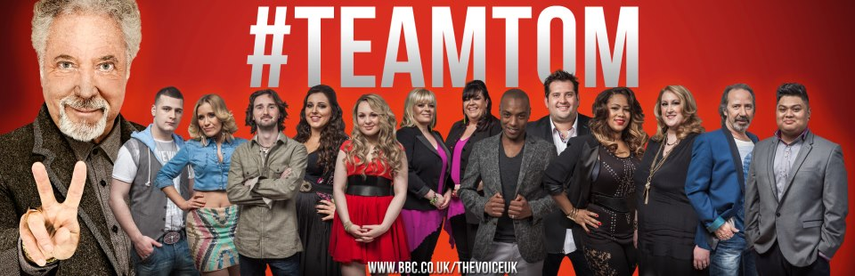 The Voice UK Series 2 Team Tom