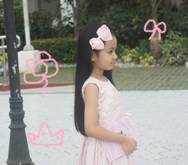 girl's pink dress ootd 8t