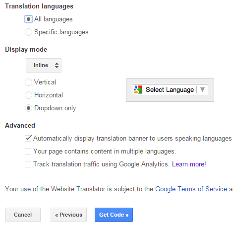 How To Add a Language Translate Button In Blogger