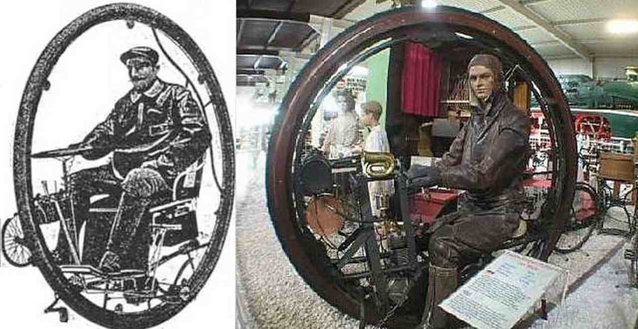 "First motorised monowheel, the ""Single wheel Garavaglia"", Amiscar"