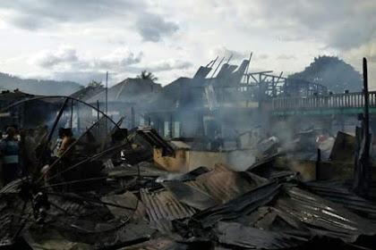 Kebakaran Di Onan Lobu Bakkara Sedikitnya Menghanguskan 10 Rumah