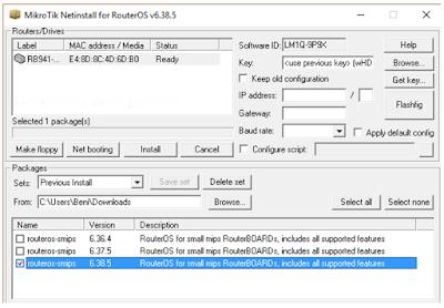 Cara Install Ulang Mikrotik Netinstall