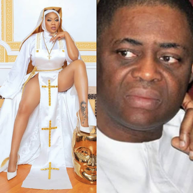 This is anti-christ and Ghetto Rubbish - FFK reacts to Toyin Lawani, over her racy nun outfit