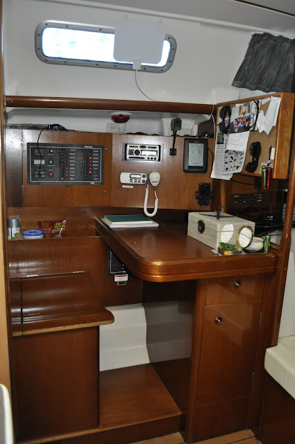 Interior navigation station before