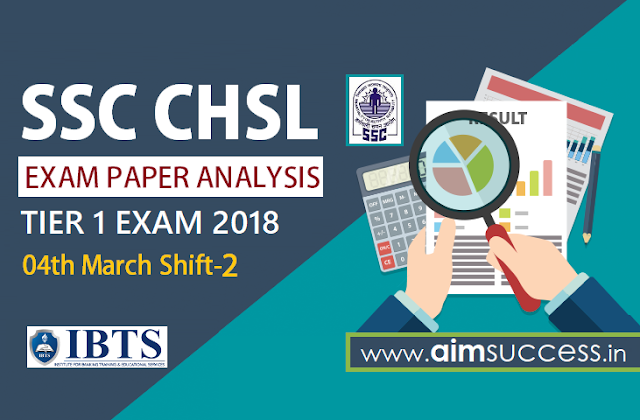 SSC CHSL Tier-I Exam Analysis 4th March 2018 Shift - 2
