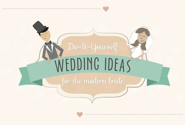 Do-It-Yourself-Wedding-Ideas-For-The-Modern-Bride #Infographic