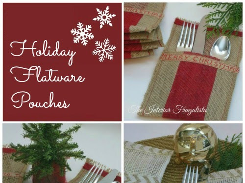 How to make Burlap Holiday Flatware Pouches