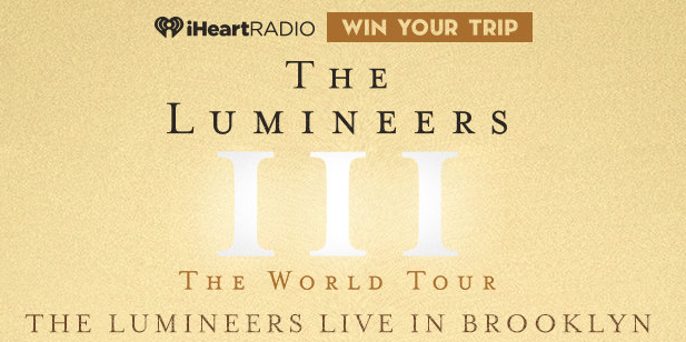 Enter daily to win a trip to see The Lumineers in Brooklyn, New York, complete with FRONT ROW SEATS and an autographed guitar!