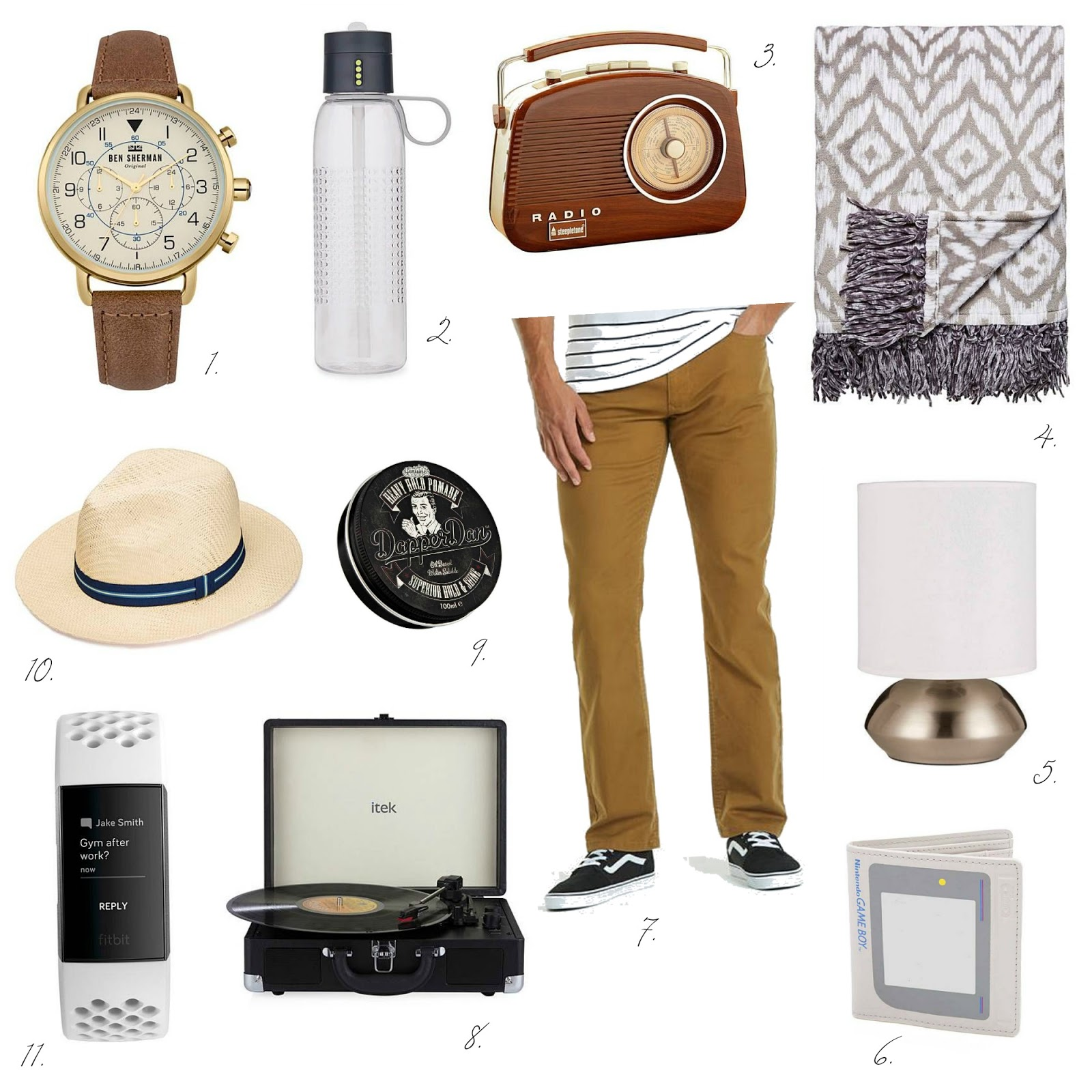 Vintage inspired style father's day gift guide ideas