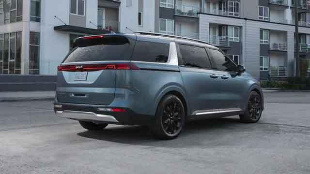 التصميم الخارجي لسيارة كيا كرنفال 2022