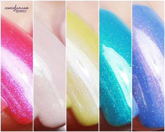 xoxoJen's swatch collage of Blush Beach Bunny Collection