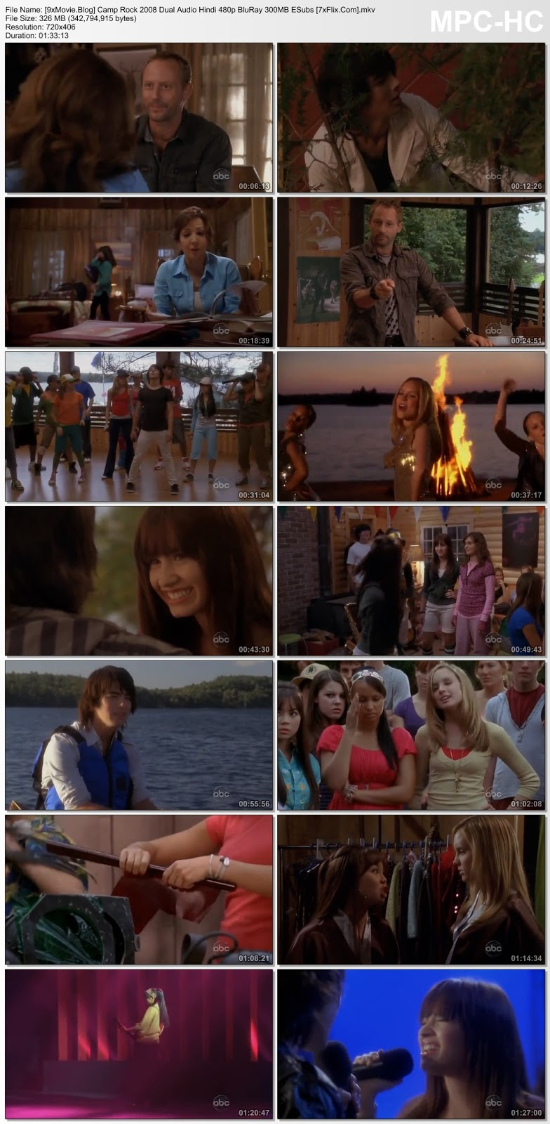 Camp Rock 2008 Dual Audio Hindi 480p BluRay x264 300MB ESubs