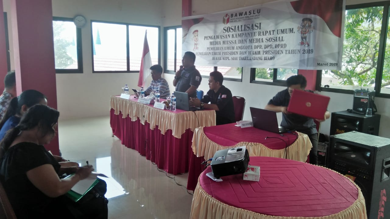 Bawaslu Sitaro Sosialisasikan Pengawasan Kampanye Rapat Umum