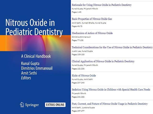 DENTISTRY BOOK: Nitrous Oxide in Pediatric Dentistry: A Clinical Handbook - 2020