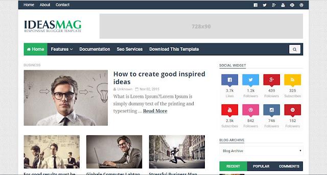 iDeas Mag - Template Blog Super Premium