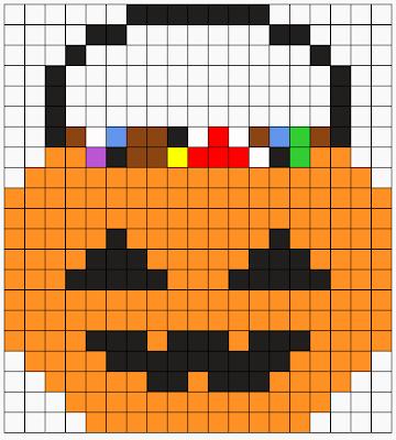 Halloween Candy Bucket Perler Pattern