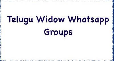 Telugu Widow Whatsapp Groups