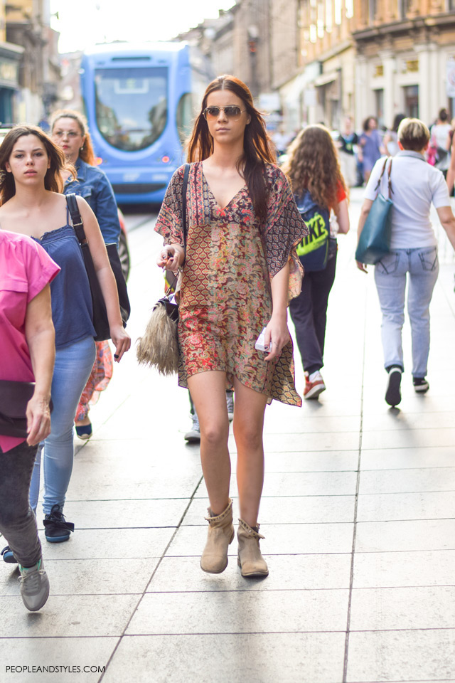 Boho street style look, Street style in Zagreb, summer fashion, June 2015. What to wear to work in summer