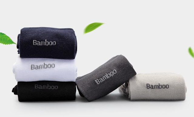 10 Pack: Men's BambooAnti-Bacterial Breathable Comfort Socks