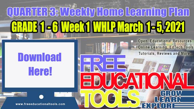 Quarter 3 Week 1: Grade 1 - 6 Weekly Home Learning Plan [DOWNLOAD]