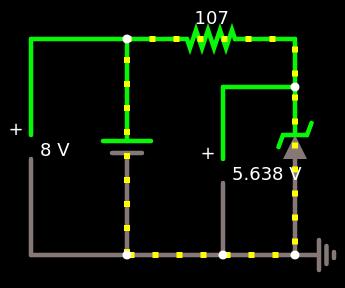 circuito com diodo zener de 5,6V