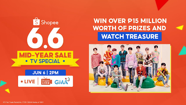 Win Over ₱15 Million Worth of Prizes and Catch Rising K-Pop Act Treasure at Shopee's 6.6-7.7 Mid-Year Sale TV Special